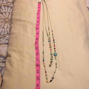 Layered beaded plunder necklace